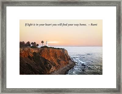 Lighthouse Framed Print by Stella Levi