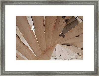 Lighthouse Steps Guerrero Negro Framed Print by Linda Queally