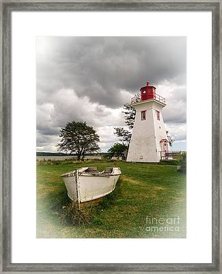 Lighthouse Victoria By The Sea Pei Framed Print by Edward Fielding