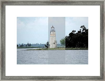 Lighthouse Framed Print by Victoria Leyva