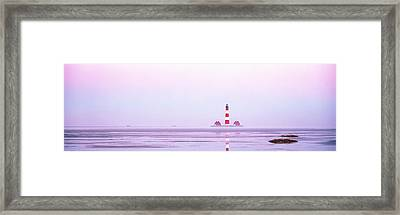 Lighthouse Westerhever North Sea Germany Framed Print by Panoramic Images