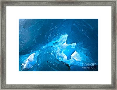 Lighting In Nigardsbreen Glacier Grotto 3 Framed Print by Heiko Koehrer-Wagner