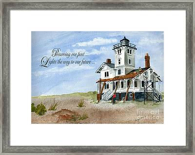 Lighting The Future  Framed Print by Nancy Patterson