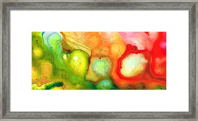 Lightness Of Being Abstract Art By Sharon Cummings Framed Print by Sharon Cummings