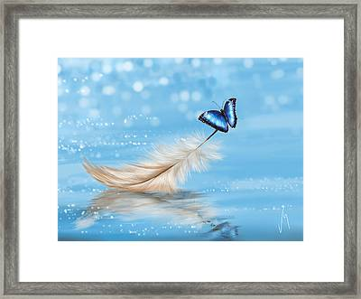 Lightness Framed Print by Veronica Minozzi