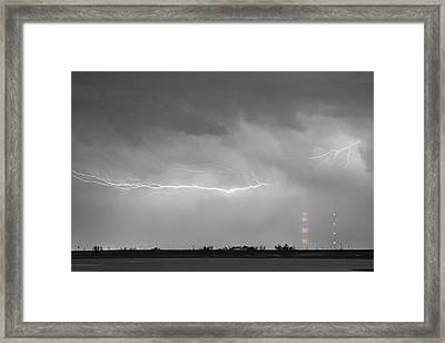 Lightning Bolting Across The Sky Bwsc Framed Print by James BO  Insogna