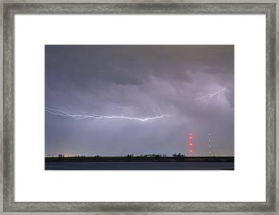 Lightning Bolting Across The Sky Framed Print by James BO  Insogna