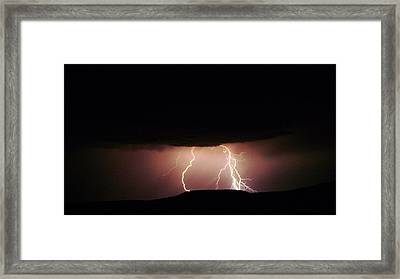 Lightning Dancing Framed Print by Jeff Swan