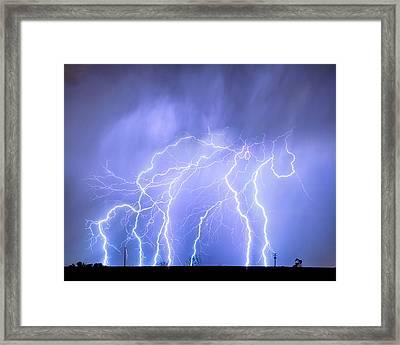 Lightning Electrical Sky Framed Print by James BO  Insogna