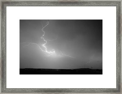 Lightning Goes Boom In The Middle Of The Night Bw Framed Print by James BO  Insogna
