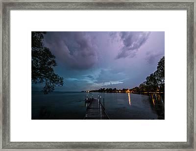 Lightning Lighting Framed Print by Matt Molloy