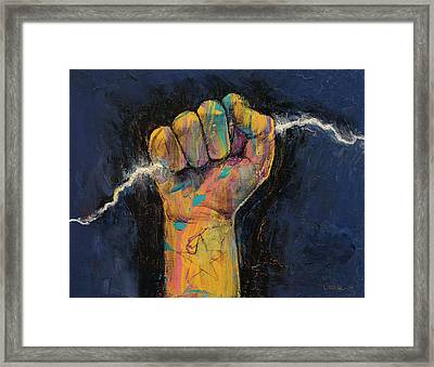 Lightning Framed Print by Michael Creese