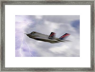 Lightning Speed Framed Print by Peter Chilelli