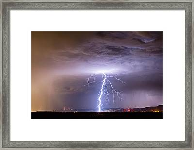 Lightning Strikes Following The Rain  Framed Print by James BO  Insogna
