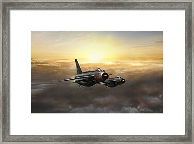 Lightnings On The Horizon Framed Print by Peter Chilelli
