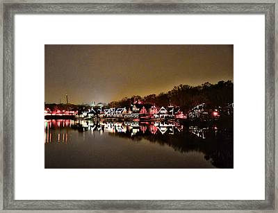 Lights On The Schuylkill River Framed Print by Bill Cannon