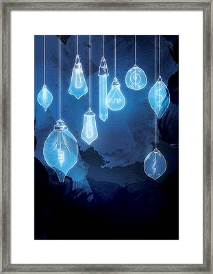 Lights Framed Print by Randoms Print