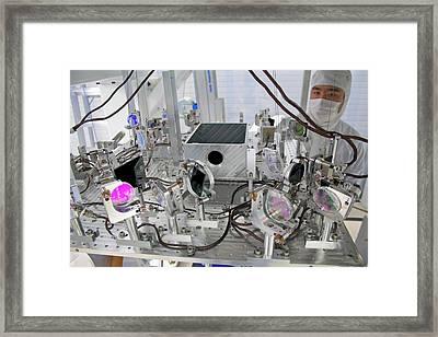 Ligo Gravitational Wave Detector Optics Framed Print by Caltech/mit/ligo Lab
