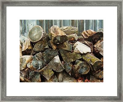 Winter Wood Framed Print by Todd Sherlock