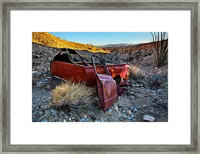 Like A Rock Framed Print by Peter Tellone
