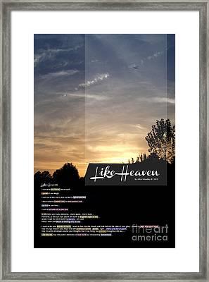 Like Heaven Framed Print by Affini Woodley