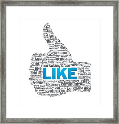 Like - Thumb Up Framed Print by Aged Pixel
