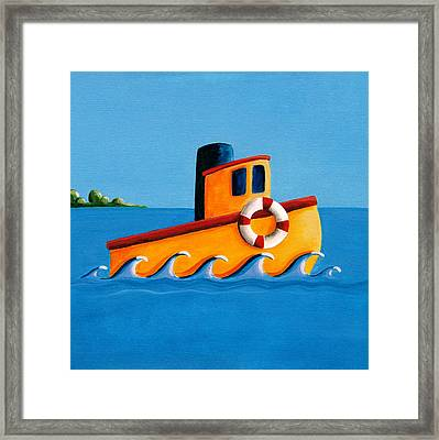 Lil Tugboat Framed Print by Cindy Thornton