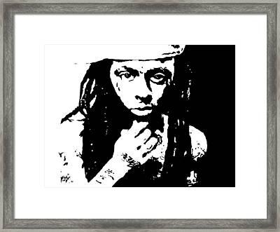 Lil Wayne  Framed Print by Cherise Foster