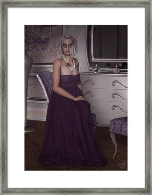 Lilac Evening Framed Print by Rachel Dudley