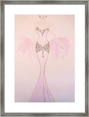 Lilac Lady Framed Print by Christine Corretti