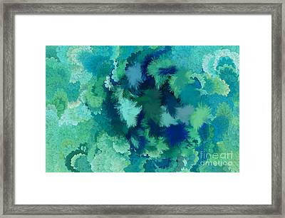 Lilac Of The Valley Teal Green Framed Print by Holley Jacobs