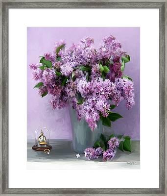 Lilac Spring Framed Print by Yvonne Della-Moretta