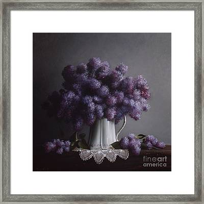 Lilacs Study No.2 Framed Print by Larry Preston
