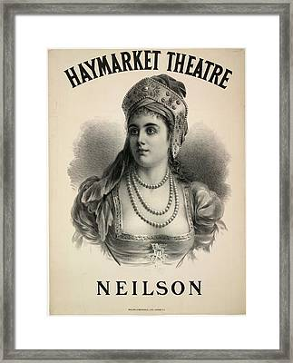 Lilian Adelaide Neilson Framed Print by British Library