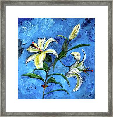 Lilies Framed Print by Gregory Allen Page