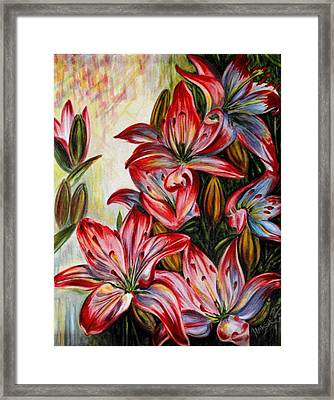 Lilies Framed Print by Harsh Malik