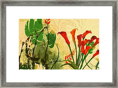 Lilies In The Park Framed Print by Madeline  Allen - SmudgeArt