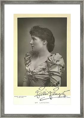 Lillie Langtry Framed Print by British Library