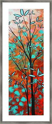 Lilly Pulitzer Inspired Abstract Art Colorful Original Painting Spring Blossoms By Madart Framed Print by Megan Duncanson