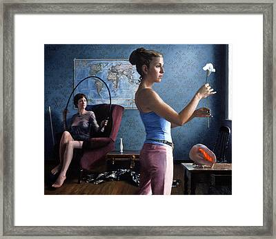 Lily And Hoop Framed Print by Charles Pompilius