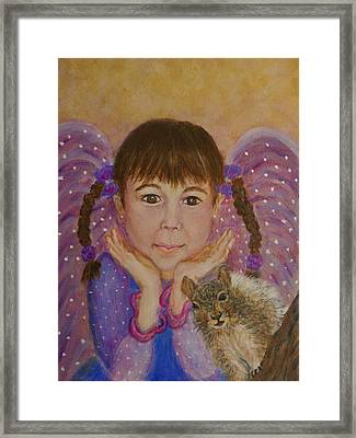 Lily Isabella Little Angel Of The Balance Between Giving And Receiving Framed Print by The Art With A Heart By Charlotte Phillips
