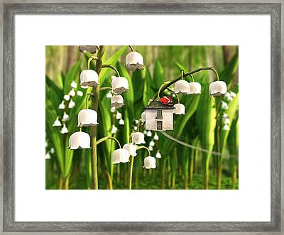 Lily Of The Valley Framed Print by Cynthia Decker
