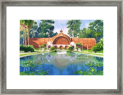 Lily Pond And Botanical Garden Framed Print by Mary Helmreich