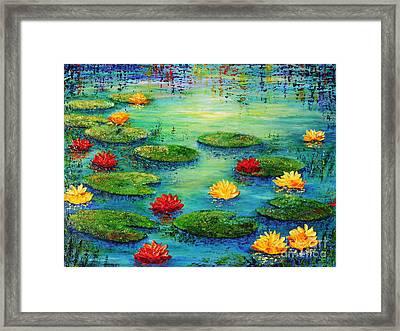 Lily Pond Framed Print by Teresa Wegrzyn