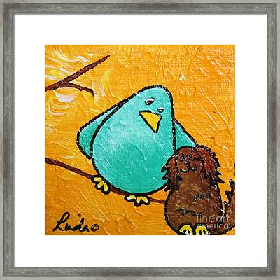 Limb Birds - Bird Dog Framed Print by Linda Eversole