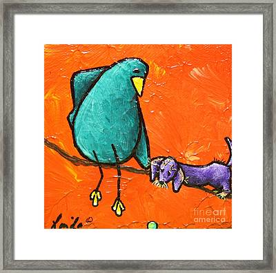 Limb Birds - You Get It Framed Print by Linda Eversole