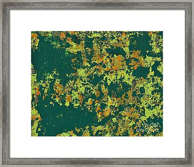 Lime Green Abstract Framed Print by Anne Clark