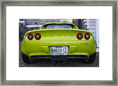 Lime Green Lotus Framed Print by Steven Ralser