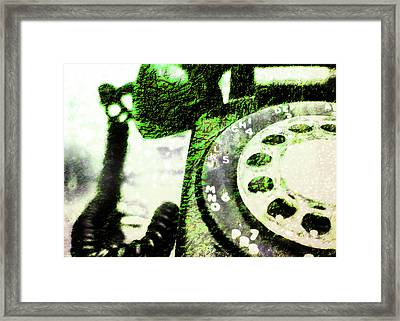 Lime Rotary Phone Framed Print by Jon Woodhams