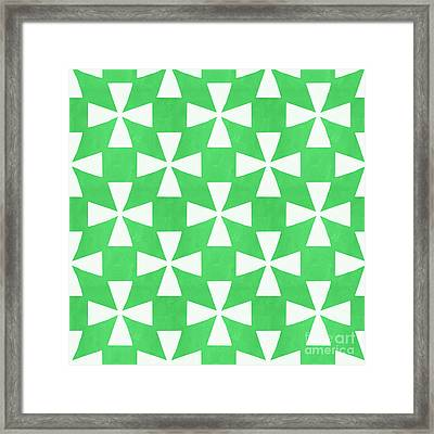 Lime Twirl Framed Print by Linda Woods